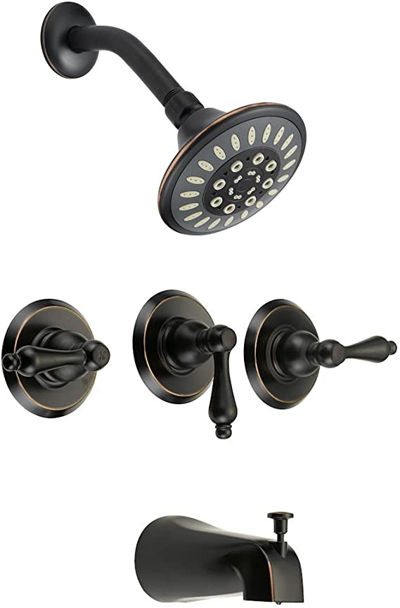 Designers Impressions Oil Rubbed Bronze 2 Handle Tub//Shower Combo Faucet  656727