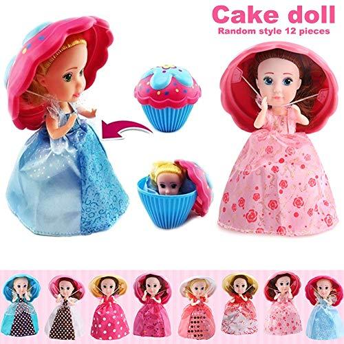 Miazhou 1 Stück Törtchen Puppe Mini Deformable Gebäck Prinzessin Geschenk Spielzeug für Kinder Mädchen