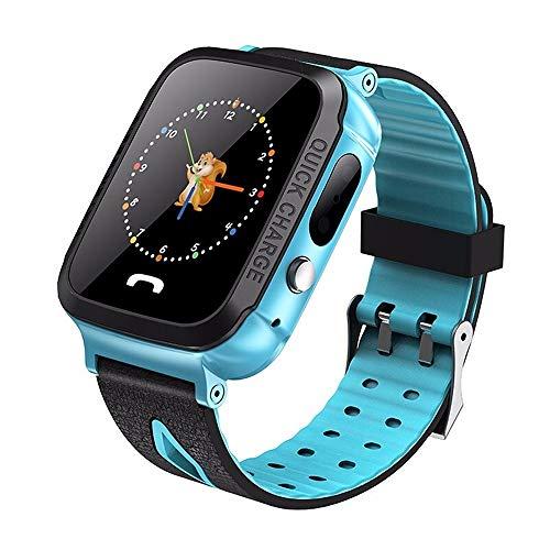 ZAKRLYB GPS Kids Smart Watch Posición telefónica Children Watch 1.22 Pulgadas Color Touch Screen WiFi SOS Rastreador Smart Baby Watch iOS & Android para niños 3-12 Regalo de cumpleaños de