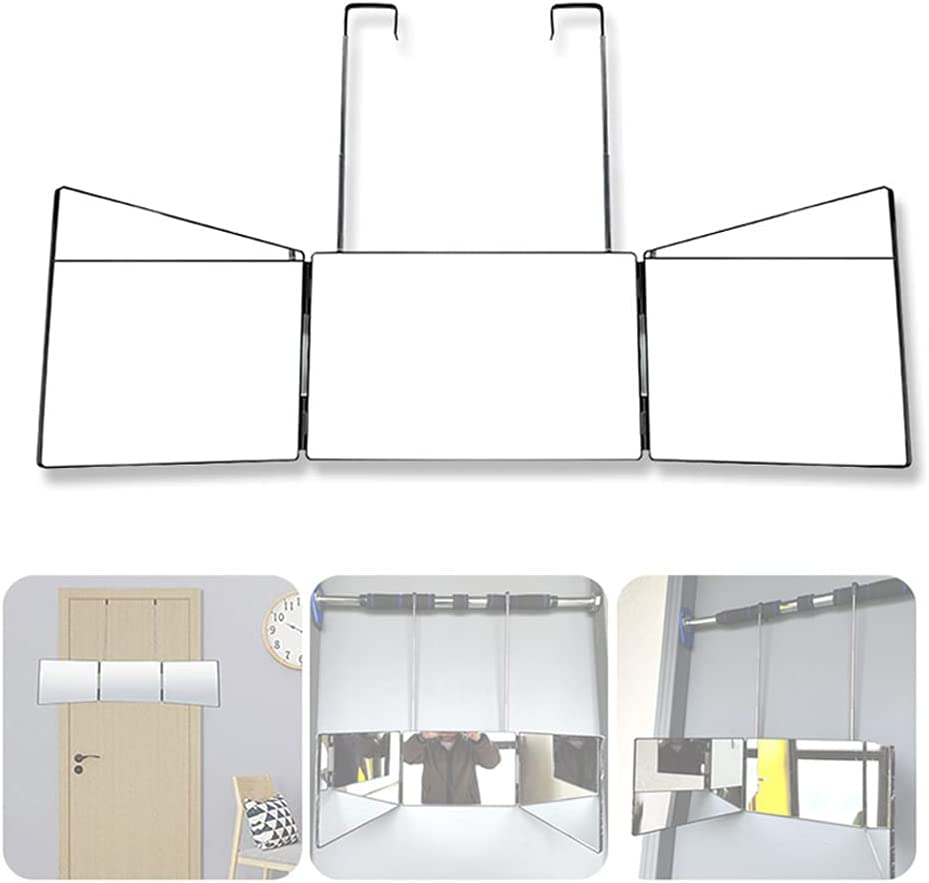 Three-Sided Folding Mirror,360°Mirror-3 Arlington Mall Way self-Cutting Max 63% OFF