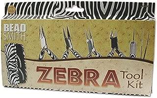 Beadsmith XTL-7654 6 Piece Zebra Tool Kit with Case