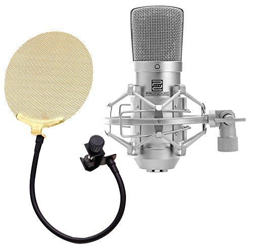 Pronomic CM-10 micrófono de membrana grande para estudio set incl. popscreen dorado