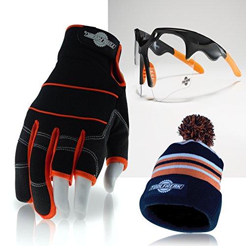 Toolfreak, 3dedos guantes de trabajo con lente transparente gafas de seguridad + + +...
