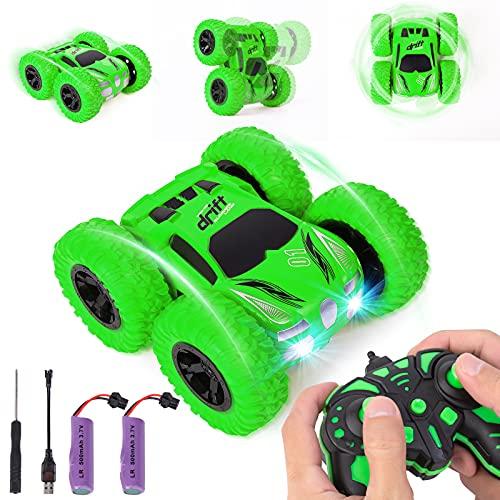NYOBABE 360° Flip Stunt Ferngesteuertes Auto, 4WD 2,4 GHz RC Car Schnelle Geschwindigkeit Offroad Auto Rennwagen mit 2 Wiederaufladbar Akku für Jungen Mädchen Erwachsene