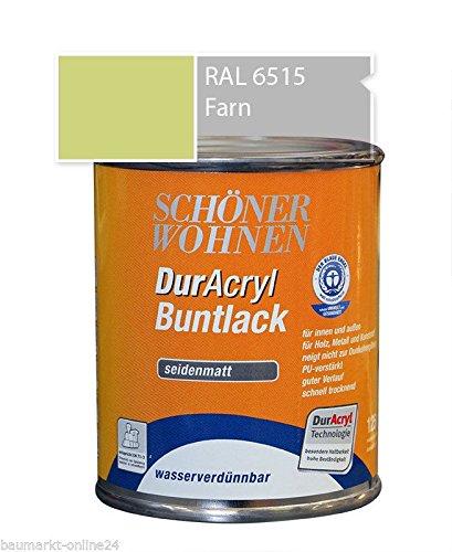 DurAcryl Buntlack Farn 125 ml RAL 6515 Seidenmatt Schöner Wohnen