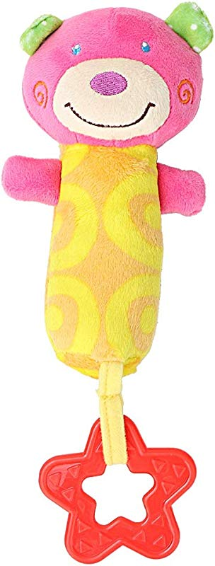 Bicaquu Cute Cartoon Animal Stroller Infant Baby Toys Mobile Hand Bell Soft Plush Gift For Boys Girls