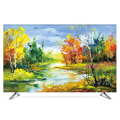 HBLZG TV- Estuche Protector Antipolvo Protector de Pantalla de TV de Tela a Prueba de Polvo para TV de Pantalla Plana, Smart TV, TV de Plasma (Color : A, Size : 32 Inch)