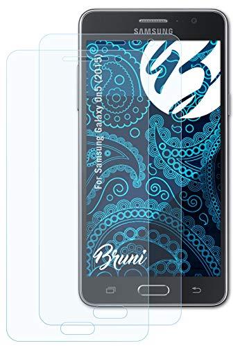 Bruni Schutzfolie kompatibel mit Samsung Galaxy On5 (2015) Folie, glasklare Bildschirmschutzfolie (2X)