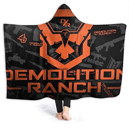 Demolition Ranch Manta con capucha de franela usable manta mágica castillo escuela insignia con capucha capa sofá escuela viaje Cosplay capa para adultos niños 50 pulgadas x 40 pulgadas