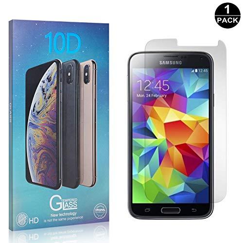 Bear Village® Verre Trempé pour Galaxy S5, Sans Bulles Protection en Verre Trempé Écran pour Samsung Galaxy S5, Dureté 9H, 99% Transparent, 1 Pièces