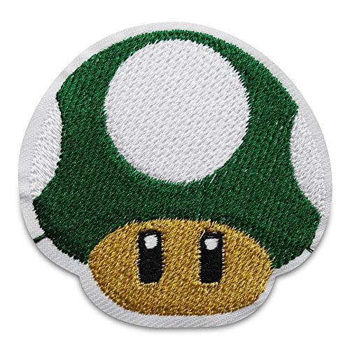 Finally Home Grüner 1-Up Pilz Mario Patch, Bügelflicken | Videospiel Patches zum Aufbügeln, Flicken, Aufnäher