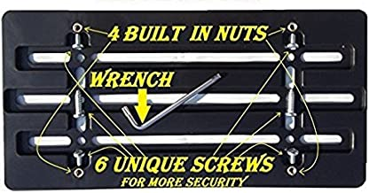 Trunknets Inc Front Bumper License Plate Bracket for Hyundai & 6 Secure Screws & Wrench Kit
