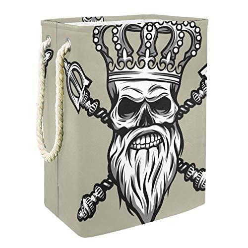 Crown Skull King Panier de Rangement de Jouets Pour Enfants de Grande Capacité Boîte de Rangement Bin Salle de jeux Enfants Garçons Filles Collection Jouets 49x30x40.5cm