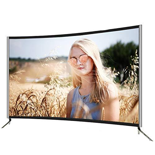 GXFCH SHOP Curved Smart TV 4K HD Smart TV WiFi Smart, TV Curvado de 55 Pulgadas se Puede Usar para teléfono móvil, proyección de Pantalla de tabletas