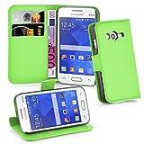 Cadorabo Hülle kompatibel mit Samsung Galaxy ACE 4 LITE Hülle in MINZ GRÜN Handyhülle mit Kartenfach & Standfunktion Schutzhülle Etui Tasche