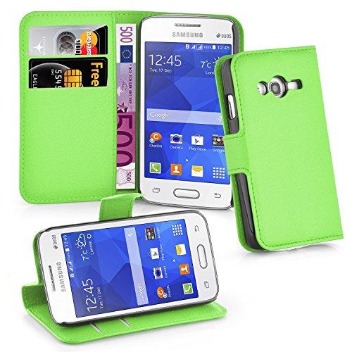 Cadorabo Hülle für Samsung Galaxy ACE 4 LITE in MINZ GRÜN - Handyhülle mit Magnetverschluss, Standfunktion & Kartenfach - Hülle Cover Schutzhülle Etui Tasche Book Klapp Style