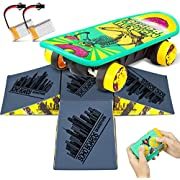 ZENFOLT Remote Control Car, Novelty Design Remote Control Skateboard Toy with 4-Sided Pyramid Skateboard Kit, RC Car Xmas Gifts for Kids with Rechargeable Batteries for Boys and Girls