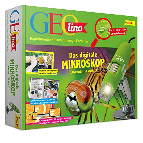FRANZIS 67069 GEOlino Das digitale Mikroskop |überall mit dabei | Bis zu 500-fache Vergrößerung | Ab 8 Jahren