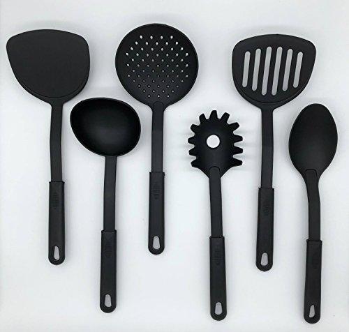 6-teiliges Küchenhelfer Set hitzebeständig & pflegeleicht - Praktisches Kochlöffel Set für den Alltag in der Küche