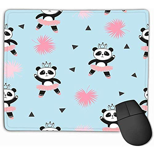 Muis Pad Leuke Panda Ballerina's Achtergrond Kinderen Ontwerp Baby Print aquarel Rechthoek Rubber Mousepad 30X25CM