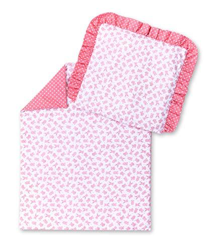 Amilian® Parure de lit pour landau Motif ourson Rose
