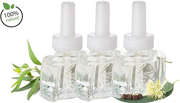 New 3 Pack 100 Natural Eucalyptus Plug In Refill Fits Air Wick Scented Oil Warmers