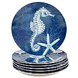 Certified International Oceanic 11' Melamine Dinner Plate, Set of 6, Multi Colored