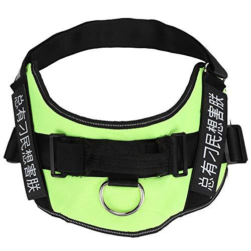 Hundegeschirr Haustier Hund Reflektierendes Geschirr Weste Halsband Brustgurt Explosionsgeschützter Rushed Supply Green S.