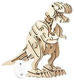 Simulus Kits de Madera: Kit de Dinosaurio de Madera controlable a Distancia, Ruidos rugientes 102 Piezas (3D Equipo)
