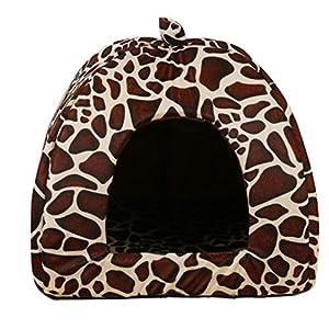 Aquiver doux Girafe pour animal domestique Chien Chat Lit Maison Niche Chiot Doggy chaud Coussin panier Pad