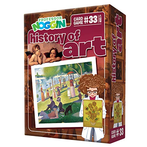 Professor Noggin's History of Art Trivia Card Game - an Educational Trivia Based Card Game for Kids - Trivia, True or False, & Multiple Choice - Ages 7+ - Contains 30 Trivia Cards