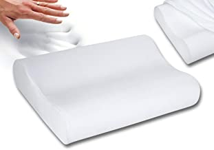 Cusiony Sampri Memory Foam Pillow Standard Size Neck & Back Support Pillow for Sleeping with Removable Zipper Cover (Standard, Memory Foam Set of 1)