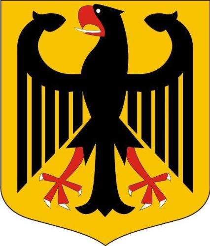 Michael & Rene Pflüger Barmstedt 8 x 6,8 cm - Konturschnitt - Autoaufkleber Deutschland Adler Wappen Sticker Aufkleber fürs Auto Motorrad Handy Laptop Outdoor/Indoor