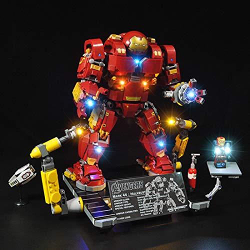 DAN DISCOUNTS LED Beleuchtung Kit für LEGO Iron Man Hulkbuster 76105 Bausteinen Modell - Ohne Lego Set