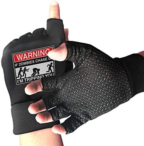 Licht Saber DUN gripvaste halve vingers inen.Circulaire handschoen Handschoen als Zombies Chase Us Ik ben trots je oefenhandschoenen voor gym, gewichtheffen, training, fitn biking