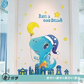 Dessin animé enfants chambre décoration porte autocollants armoire autocollants stickers muraux armoire 3D papier peint 9