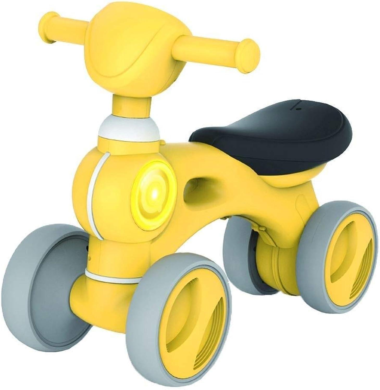 Geburtstagsgeschenk, Laufrad, Kinderfahrrad - Babyfahrrad für 10-30 Monate, stabiles Laufrad für 1 Jahr alt, erstes Fahrrad ZHAOFENGMING (Farbe   Gelb, Größe   As Shown)