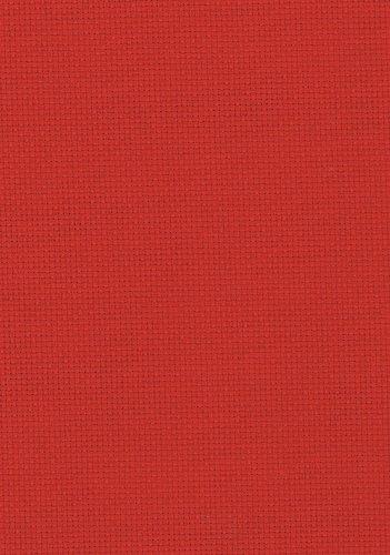 Aida Kreuzstich-Stoff, Fadenzahl 14, Fat Quarter (50x55cm), rot