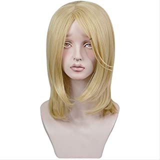Anime Fairy gone Veronica Sean Light Gold Heat Resistant Synthetic Hair Cosplay Costume Wigs + Wig Cap