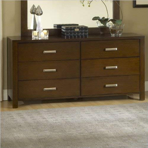 Modus Furniture Riva 6-Drawer Dresser, Chocolate Brown