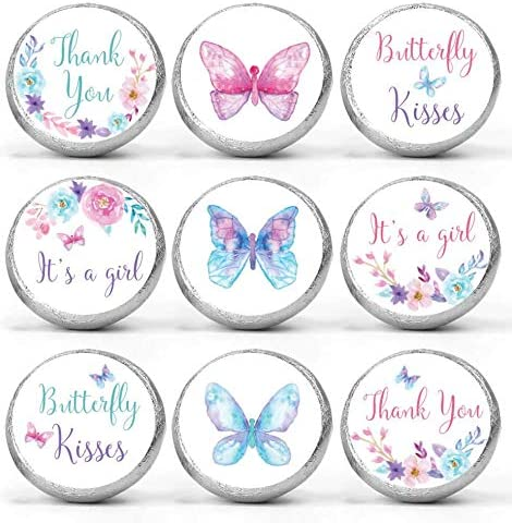 Mini Candy Stickers Butterfly Baby Shower Favors Set of 324 product image