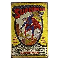 スーパーマンウェザードルックティンメタルサインコミックススーパーヒーロースーパーマンクラシック-20x30cm