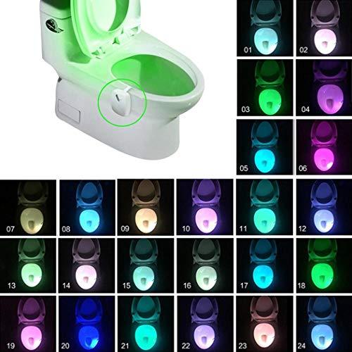 Cokil 1Pcs Home Automatische Induktion Bewegungssensor LED Toilette Nachtlicht Nachtlichter
