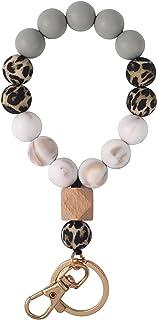 Silicone Key Ring Bracelet, for Women Wristlet Bangle Keyring Portable House Car Keys Ring,