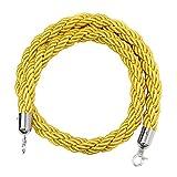 Shiwaki Stanchion Rope Queue Barrier Ropes, 6.6ft / 9.8ft, 2 Colores Opcionales - Amarillo, 3M