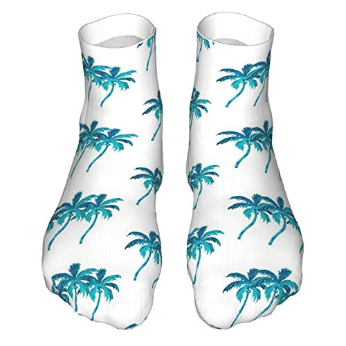 Calcetines de tres palmeras de coco para adultos, calcetines de corte bajo, calcetines informales, calcetines deportivos, transpirables, unisex, 30 cm