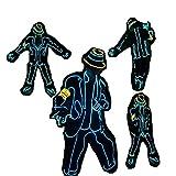 WTUGAIOHG Disfraz De Danza Fluorescente Al Estilo De Michael Jackson para Adultos Y Niños Unisex, El Cold Light & Battery Powered, para El Show De Conciertos De La Fiesta De Baile De La Mascarada
