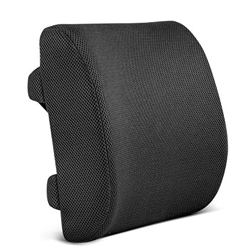 Restorology Orthopedic Memory Foam Lumbar Support Back Cushion for Office Chair and Car Seat -...