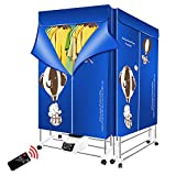 Electric Clothes Dryer Portable-2 Tier Drying Rack,1400W,Automatic Timer-Remote Control for Apartments, RV, Laundry