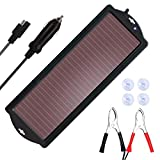 SARONIC Solar Battery Charger-Car Battery Charger Bundle with Cigarette Lighter Plug and Battery